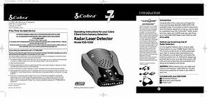Cobra Electronics Esd9201 Radar Detector User Manual Manual