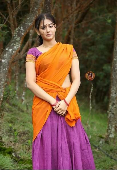 Varsha Actress Stills Ashwathi Tamil Sari Latest