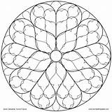 Rose Coloring Window Cathedral Sens Pages Mandala Stained Glass Eat Beast Transparent Beauty Paste Don Pattern Adults Designs Mandalas Lg sketch template