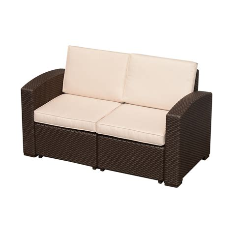Resin Loveseat Patio Furniture by Outsunny Rattan Style Resin Wicker Outdoor Furniture
