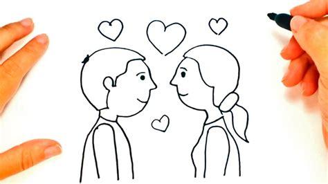 como dibujar una pareja de enamorados paso  paso dibujo facil de pareja de enamorados youtube
