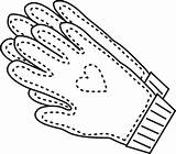 Gloves Coloring Pages Winter Glove Getcoloringpages Printable sketch template