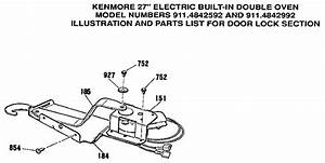Kenmore 363 4842992 Oven Door Latch
