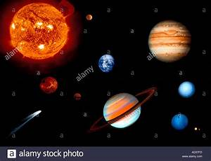 Science Solar system Sun and 9 planets Stock Photo ...