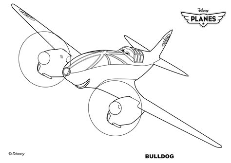 Coloriages Planes De Walt Disneybulldog Un Avion De