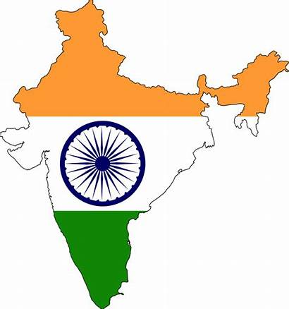 Map India Flag Indian Clipart Indien National
