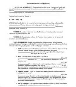 Free Printable Residential Lease Agreement