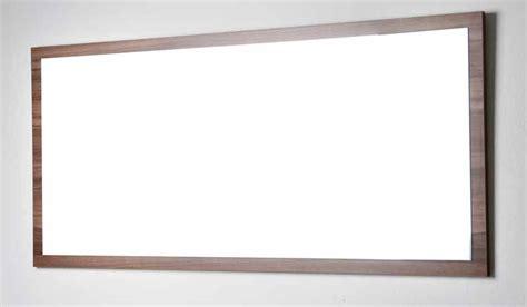 57 In. W X 26.5 In. H Framed Wall Mirror In Walnut Tn