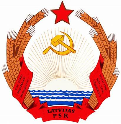 Arms Coat Ssr Latvian Grb Commons Ussr