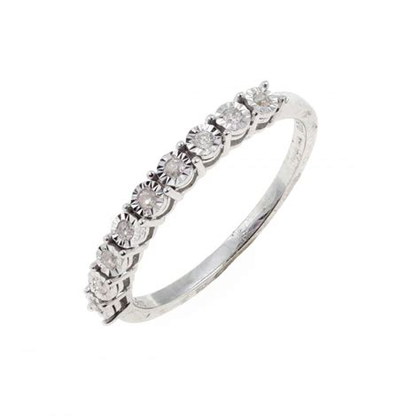eternity 9ct white gold half eternity ring engagement rings from eternity the
