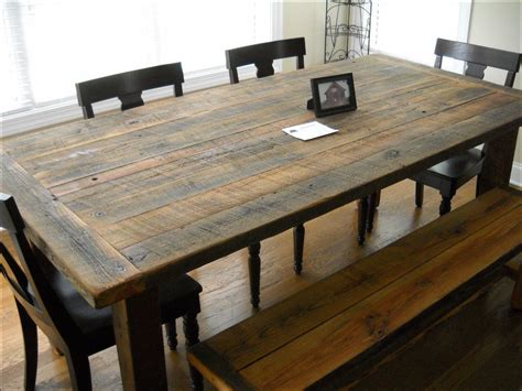 White Kitchen Tile Ideas - rustic barn wood dining room table kitchen ideas and design gallery