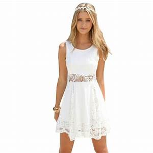 2015 elegant women summer white dress casual dresses With robe ete blanche