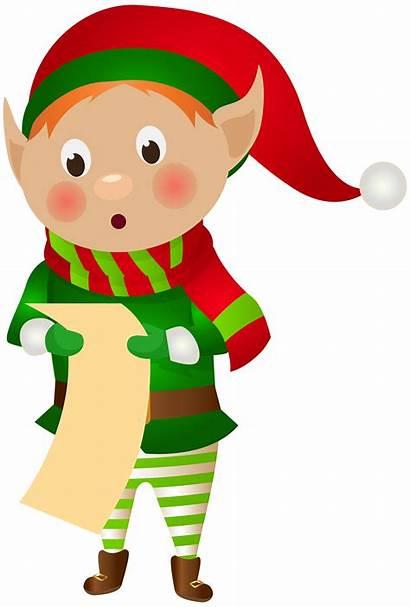 Elf Christmas Clip Clipart Tree Transparent Cliparts