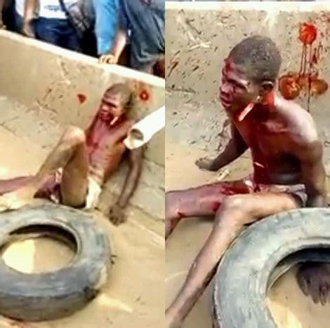 road   thief  juju  angry mob beat