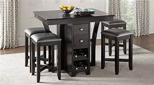 Ellwood Black 5 Pc Bar Height Dining Set - Dining Room
