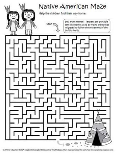 Native American Maze  Education World