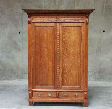 Antique Oak Armoire Wardrobe by 768 Large Antique Rustic Oak Renaissance Armoire
