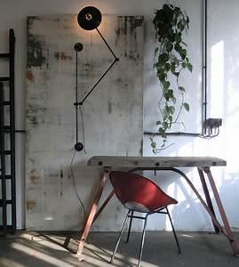 Lampe Murale Industrielle : wo and w collection lampe murale pivotante industrielle deux bras articul s patin e noir ~ Teatrodelosmanantiales.com Idées de Décoration