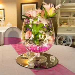 Deco Centre De Table Mariage : vase cognac centre de table decoration mariage badaboum ~ Teatrodelosmanantiales.com Idées de Décoration