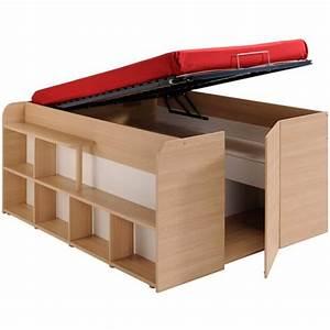 Lit Mi Hauteur Avec Rangement : lit mezzanine 2 personnes mi hauteur my blog ~ Premium-room.com Idées de Décoration