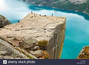 Preikestolen, Pulpit Rock, Lysefjorden, Norway Stock Photo ...