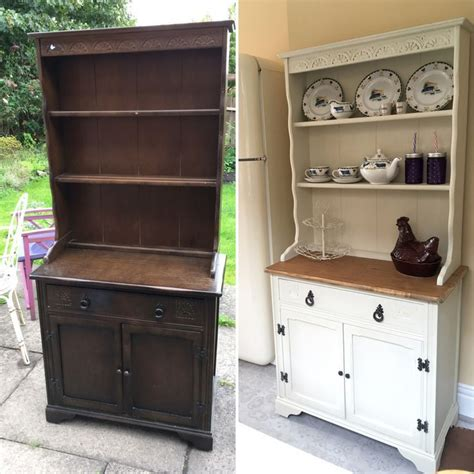 white and kitchen cabinets chalk painted dresser makeover before and after 1734