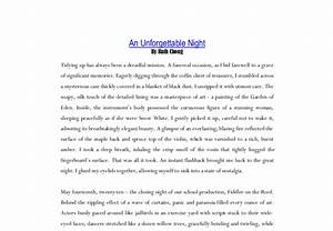 Essay on unforgettable moment