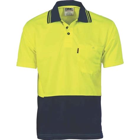 175gsm HiVis Two Tone Cool Breathe Short Sleeve Polo - A & M Workwear