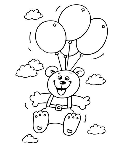 Kleurplaat Met Ballonnen by Kleuren Nu Verjaardag Met Ballonnen Kleurplaten