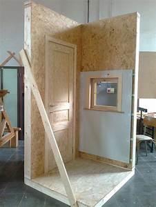 module ossature bois avec pose d39une porte interieure et With pose d une porte interieure