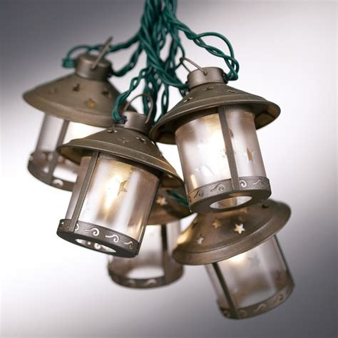 fashioned metal moon lantern string lights