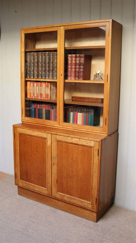 Bookcase With Cupboard by Antiques Atlas Large Light Oak Cabinet Bookcase