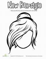 Coloring Bun Messy Hair Pages Drawing Hairstyle Hairstyles Cool Worksheet Fun Education Worksheets Draw Visit Face Getdrawings sketch template