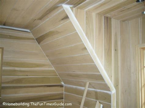 shiplap installed  angled walls  images