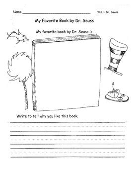 Writing Responses for Dr. Seuss: My Favorite and I Can