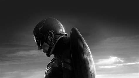 captain america sad hero film marvel dark bw wallpaper