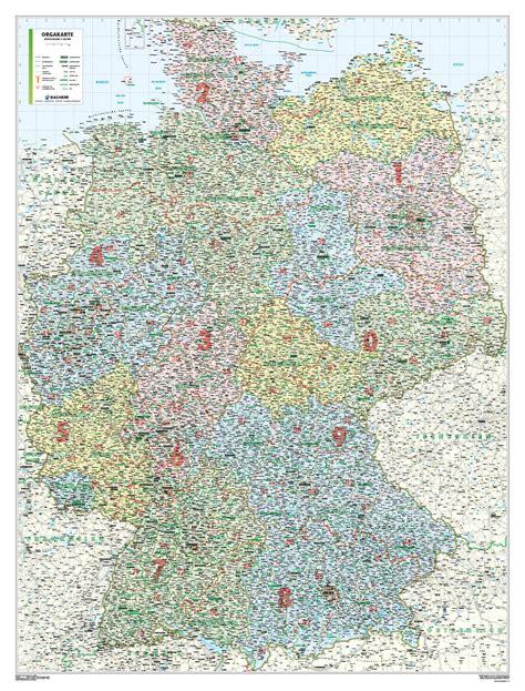postleitzahlenkarte deutschland plz   cm