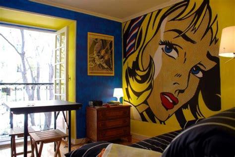 pop art deco style expressive  artistic interior
