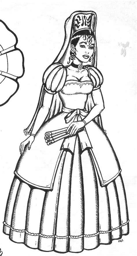 vestimenta en la epoca colonial colorear 25 de mayo para