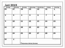 Kalenders juni 2019 ZZ Michel Zbinden NL