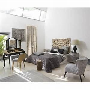 Maison Du Monde Sessel : sessel aus samt mit schwarzen und wei en motiven palm maisons du monde ~ Watch28wear.com Haus und Dekorationen