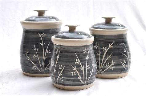 canisters soup pottery ceramic canister