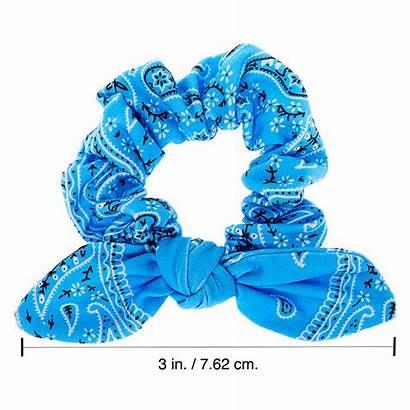 Bandana Knotted Scrunchie Bow Claires Claire Bands