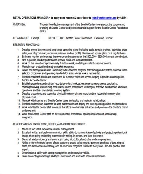 20 retail manager resume sle general manager cv