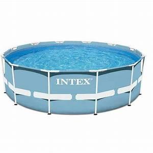 Piscine Tubulaire Intex : piscine tubulaire intex prism frame 3m05 x 76cm pas cher ~ Nature-et-papiers.com Idées de Décoration