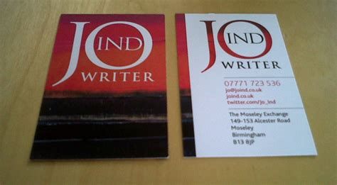 writers content developers business card examples
