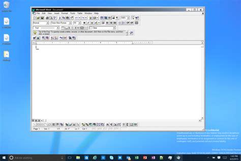Sneak Peek Of Windows 10 Build 10136 Shows Office 95