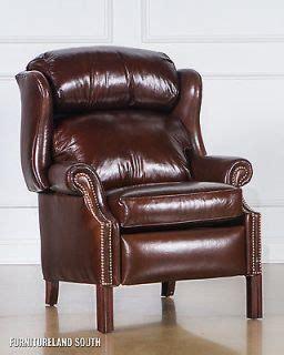 bradington furniture chippendale wingback leather