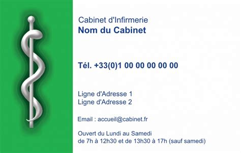 infirmi 232 re lib 233 rale carte de visite infirmi 232 re mod 232 le gratuit fond vert fonc 233 caduc 233 e