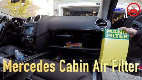 mercedez benz glml cabin air filter replacement